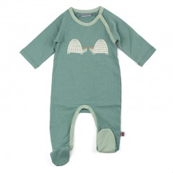 Robe Bamboo's coton turquoise