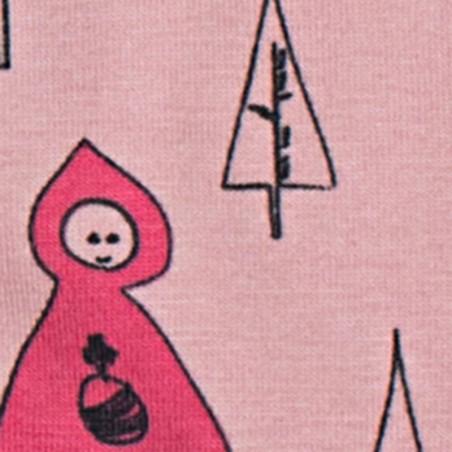 Robe rouge et noir en coton - Bamboo's