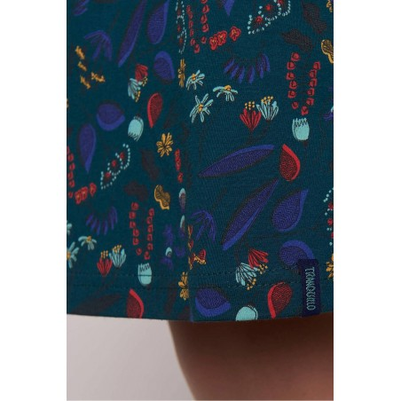 Socquettes veloutées Tulipes - BleuForêt