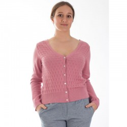 Cardigan Gerdy rose en...