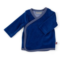 Cache-Coeur en velours bleu...
