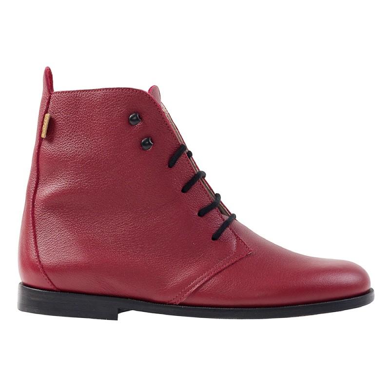 bottines classiques rouge
