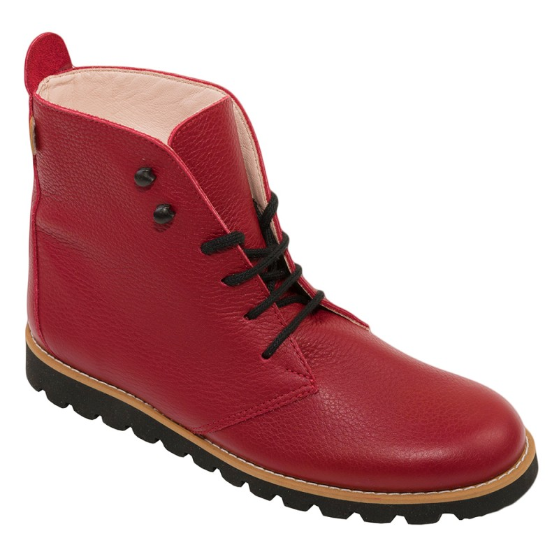 bottines club rouge