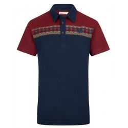 Polo tricolore Navy en...