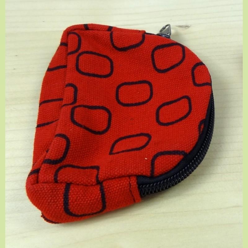 porte monnaie à rectangle : rouge