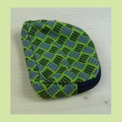porte monnaie petits carres vert