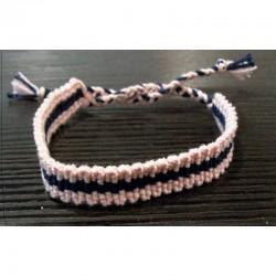 bracelet rose et bleu en coton