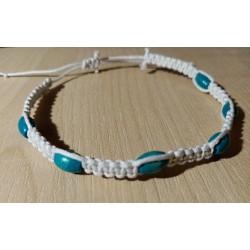 Bracelet en coton blanc et...