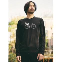 Tshirt Fleur black en tencel - Froy and Dind