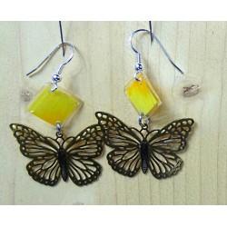 Boucles d'oreille papillons...
