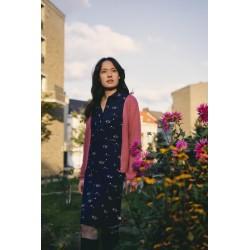 Robe midi Nair en coton bio - Tranquillo