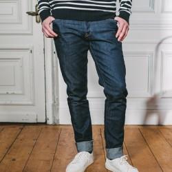 Jeans Jacky slim en coton...