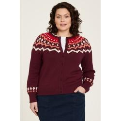 Cardigan en tricot de coton...